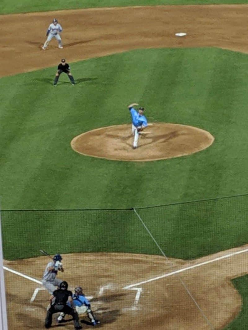 Blake Bass pitching