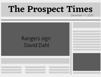 Rangers signed Outfielder David Dahl