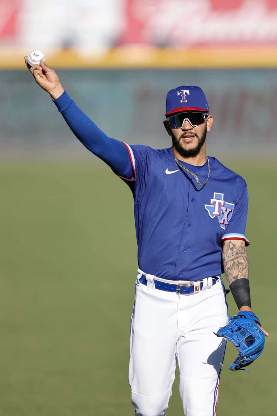 Anderson Tejeda at the Rangers alternate site at Dell Diamond, photo by Eddie Kelly/ProLook Photos