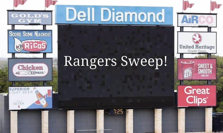 Rangers Alternate site sweeps