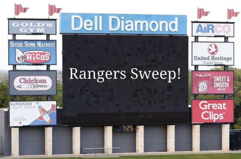 Rangers Alternate site sweeps the Astros Alternate site