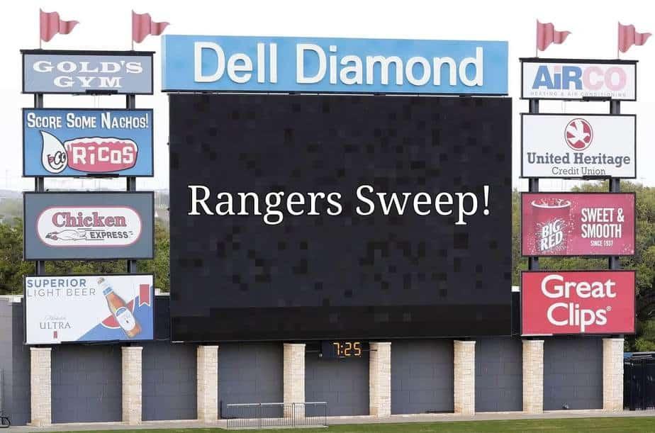 Rangers Alternate site sweeps