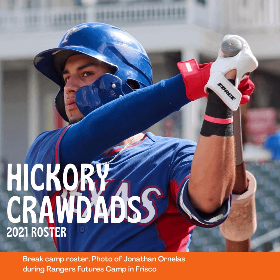 Hickory Crawdads 2021 roster