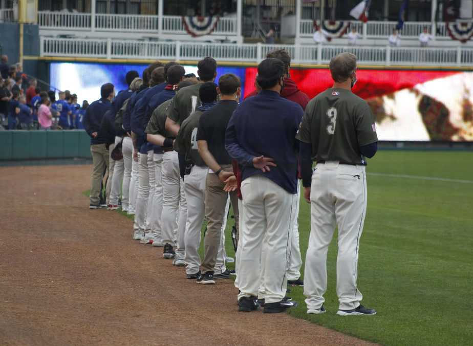 Frisco RoughRiders win  on Armed Forces Day